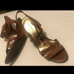 Marc Fisher Cassy Wedge Sandal Brown